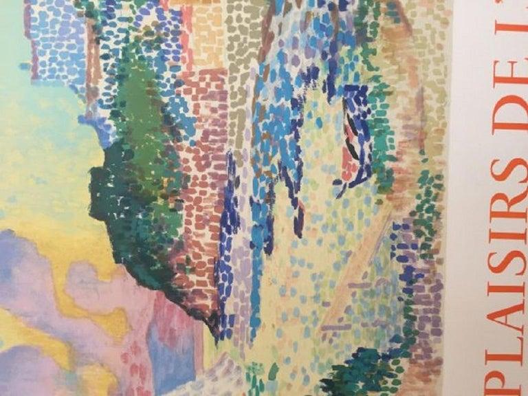 Mid-20th Century Les plaisirs de l'été, Galerie de Paris 1965 Original Vintage Poster For Sale