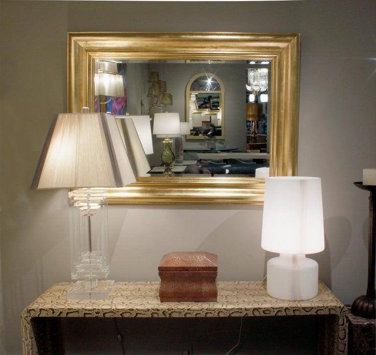Les Prismatiques Exceptional Lucite Table Lamp, 1970s For Sale 1