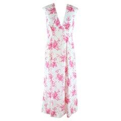 Les Rêveries Floral-print silk-charmeuse midi dress Size 4