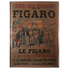 Les Six Pages Du Figaro Original Poster from Le Figaro French Daily Morning News