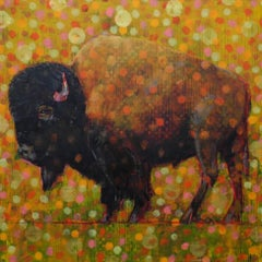 Original oil painting by Les Thomas  BISON 0181530