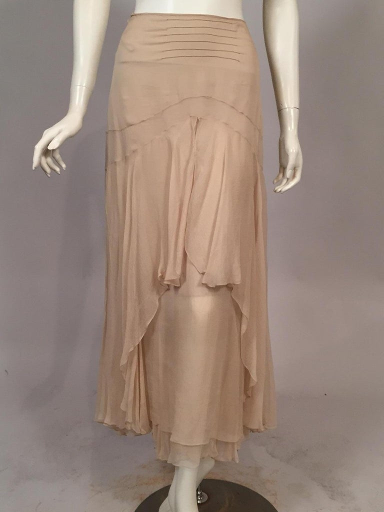 Lesage Beaded Embroidered Silk Vest Bias Cut Silk Skirt by Maggie Norris Couture For Sale 8