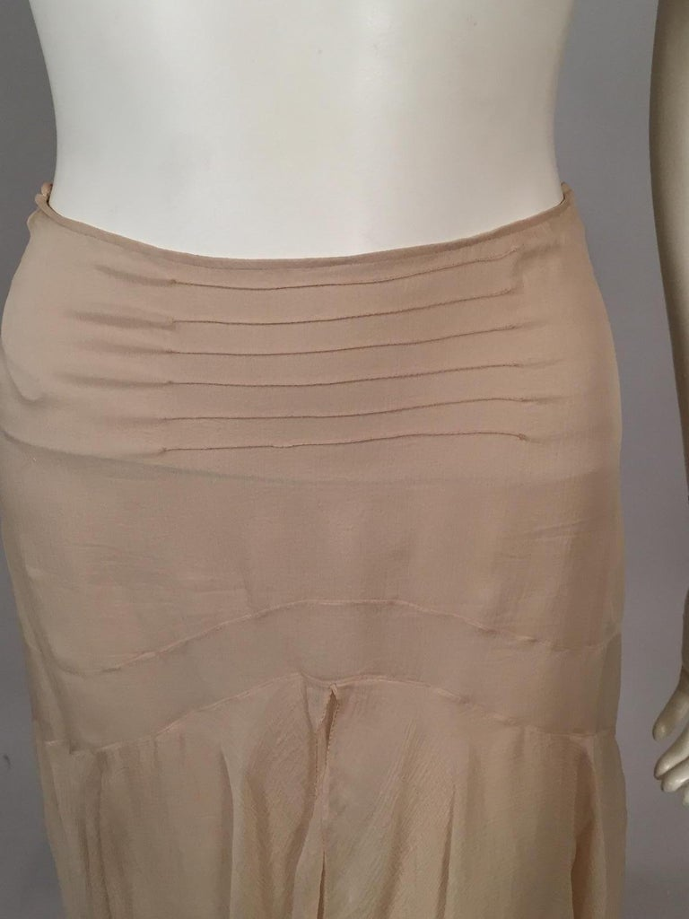 Lesage Beaded Embroidered Silk Vest Bias Cut Silk Skirt by Maggie Norris Couture For Sale 9