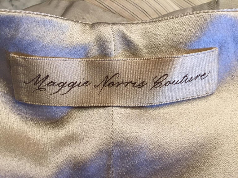 Lesage Beaded Embroidered Silk Vest Bias Cut Silk Skirt by Maggie Norris Couture For Sale 10