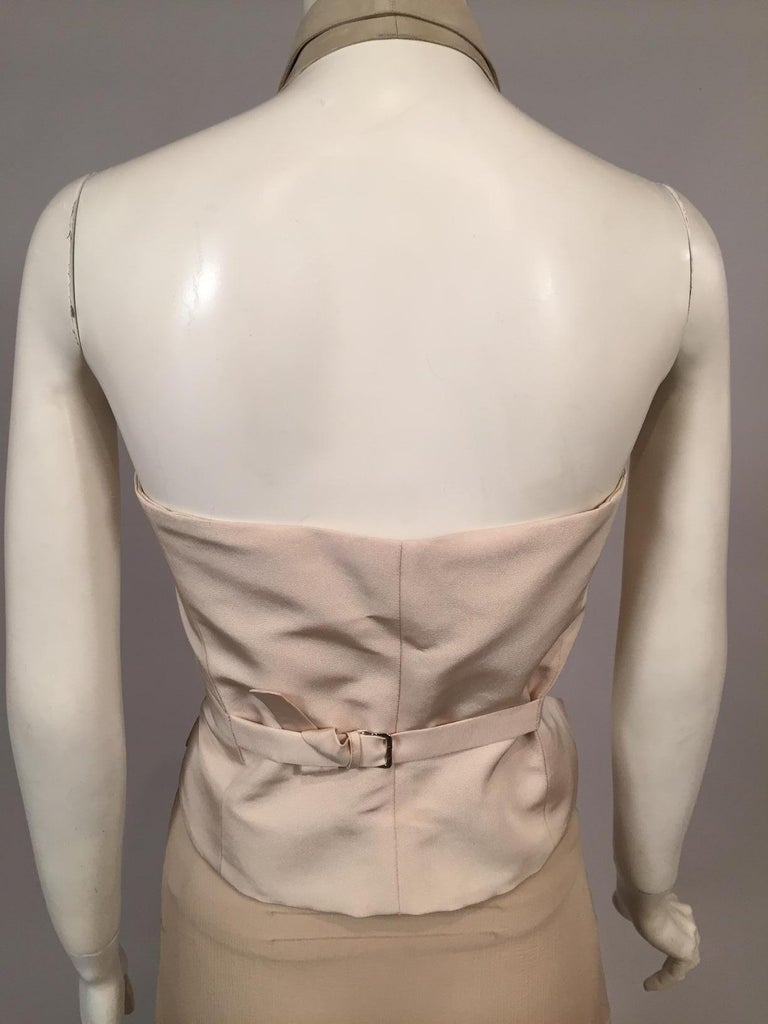 Lesage Beaded Embroidered Silk Vest Bias Cut Silk Skirt by Maggie Norris Couture For Sale 1