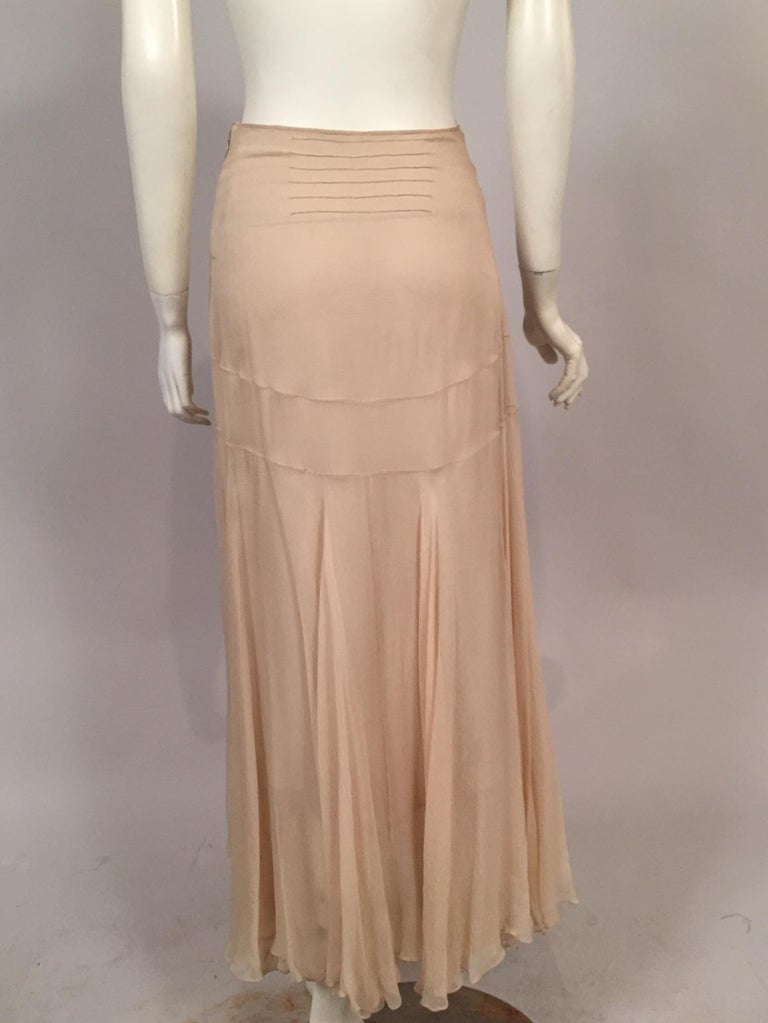 Lesage Beaded Embroidered Silk Vest Bias Cut Silk Skirt by Maggie Norris Couture For Sale 3