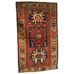 Lesghi Rug from Russia Wool and Silk, 19th Century