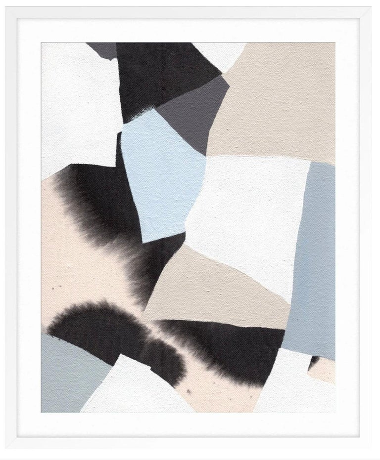 Mosaic - Gray Abstract Print by Lesley Anderson