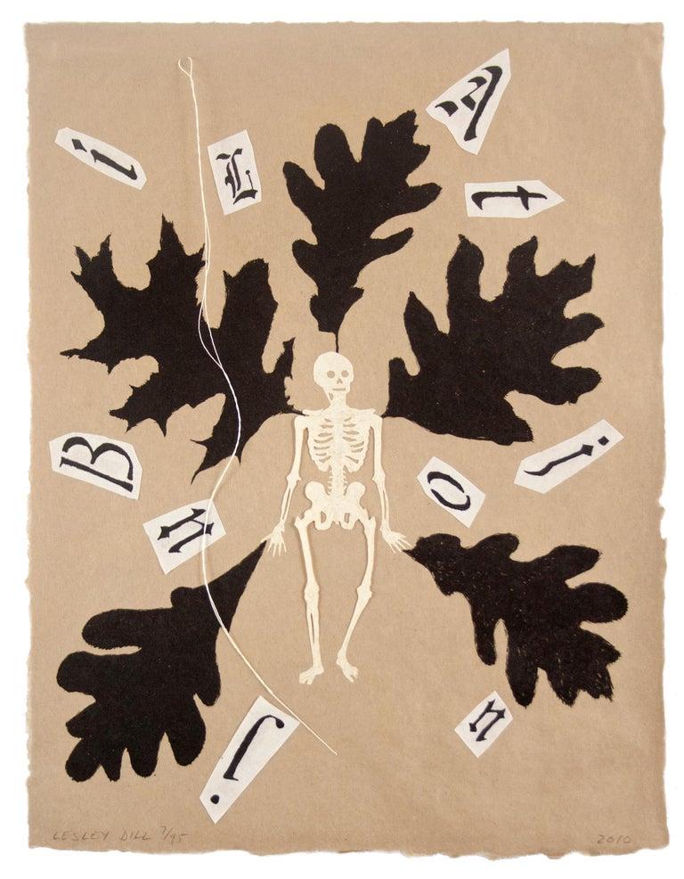 Lesley Dill Figurative Print - JUBILATION