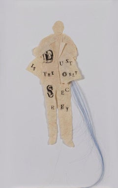 """Listen (Dust is the Only Secret),"" Mixed Media signed by Lesley Dill"