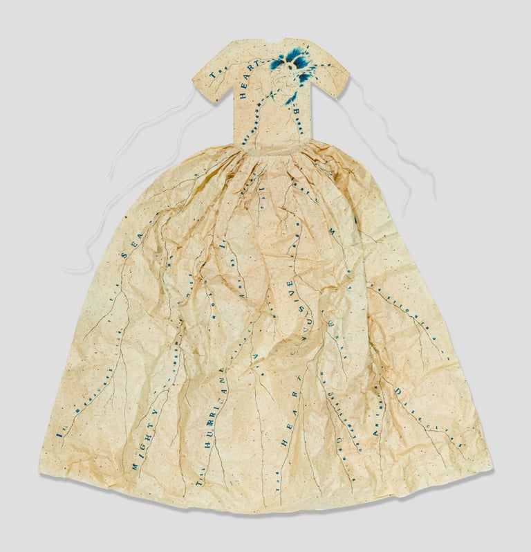 Poem Dress of Circulation - Mixed Media Art by Lesley Dill