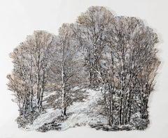 """Winter Light 5"", Contemporary, Mixed Media, Textile, Wall Sculpture, Patina"