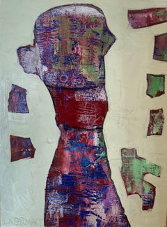 """""""About a boy"""" mixed media on board 24"""" x  18"""" by Lesley"""