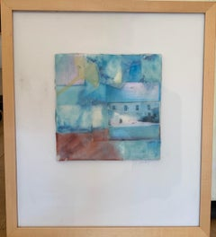 """""""Stratum 2"""" oil & wax on board & photo 14.5"""" x 16.5"""" framed by Lesley"""