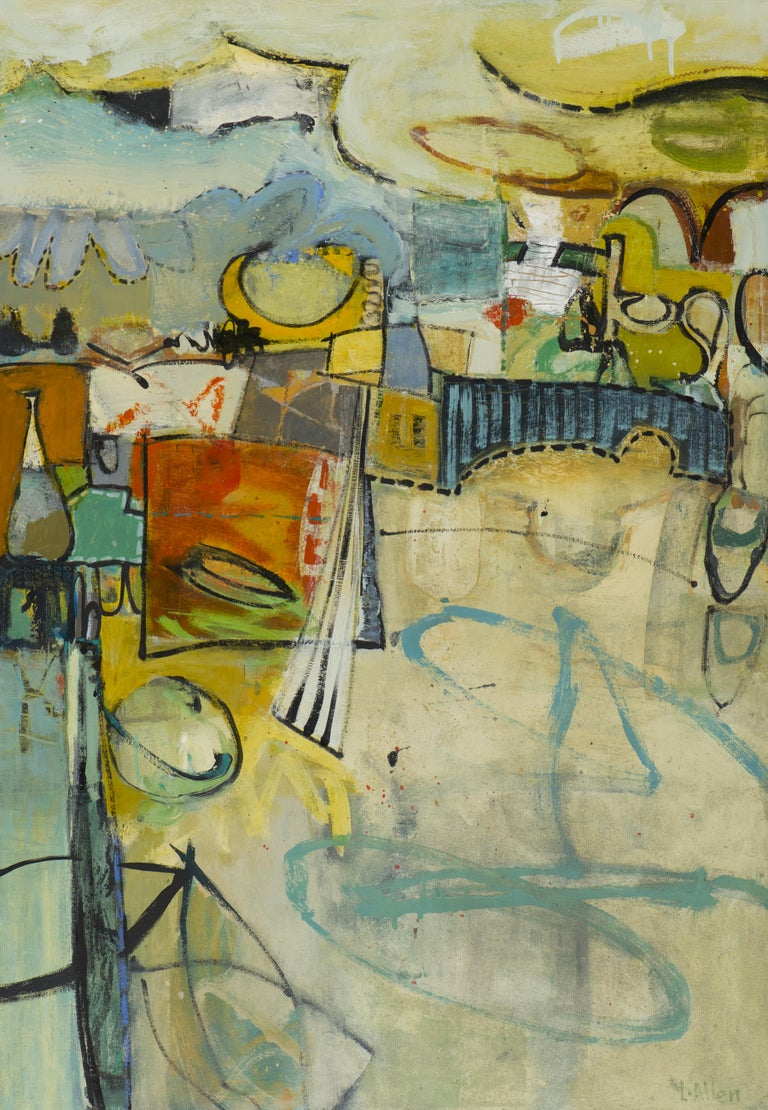 Leslie Allen Abstract Painting - Boardwalk (Santa Cruz)