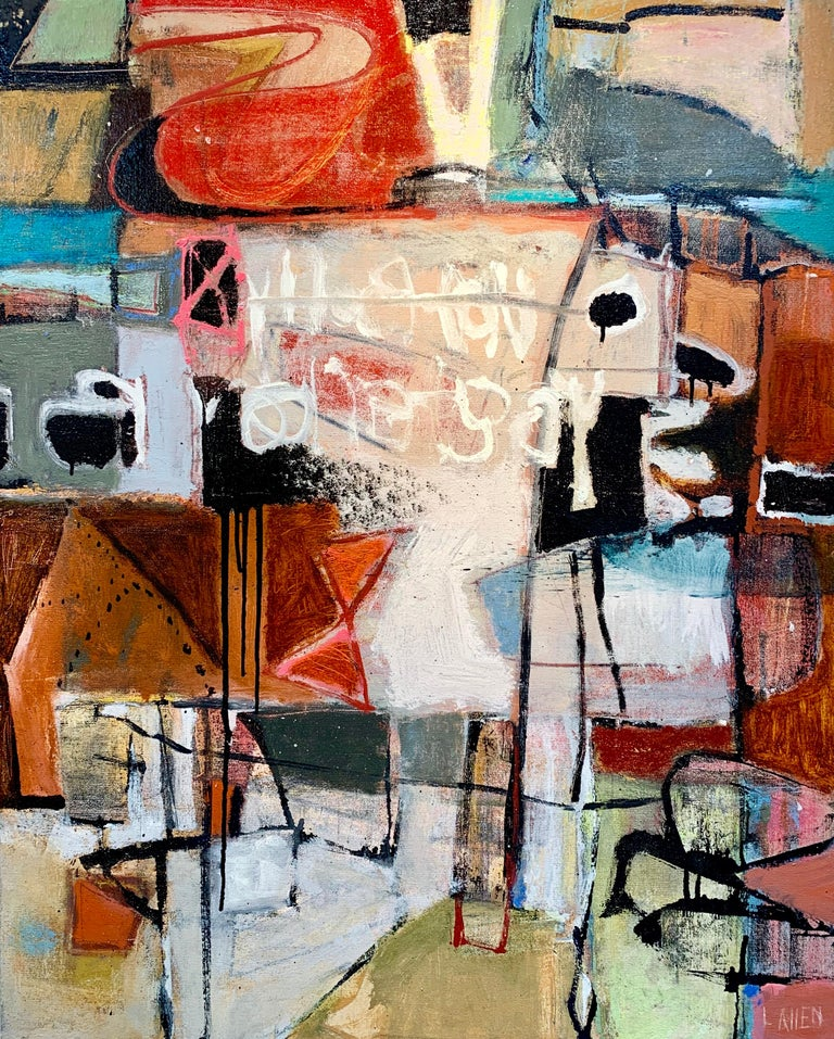 Leslie Allen Abstract Painting - Canyon (Slot)