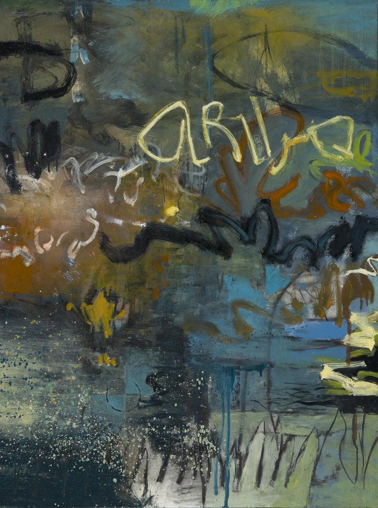 Leslie Allen Abstract Painting - Open Semantics II