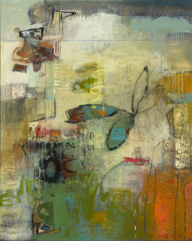 Leslie Allen Abstract Painting - Please Send Me I