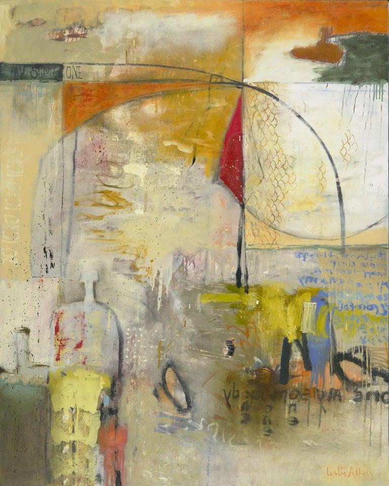 Leslie Allen Abstract Painting - Please Send Me II