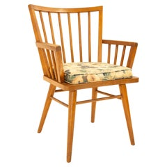 Leslie Diamond for Conant Ball Mid Century Dining Captains Chair