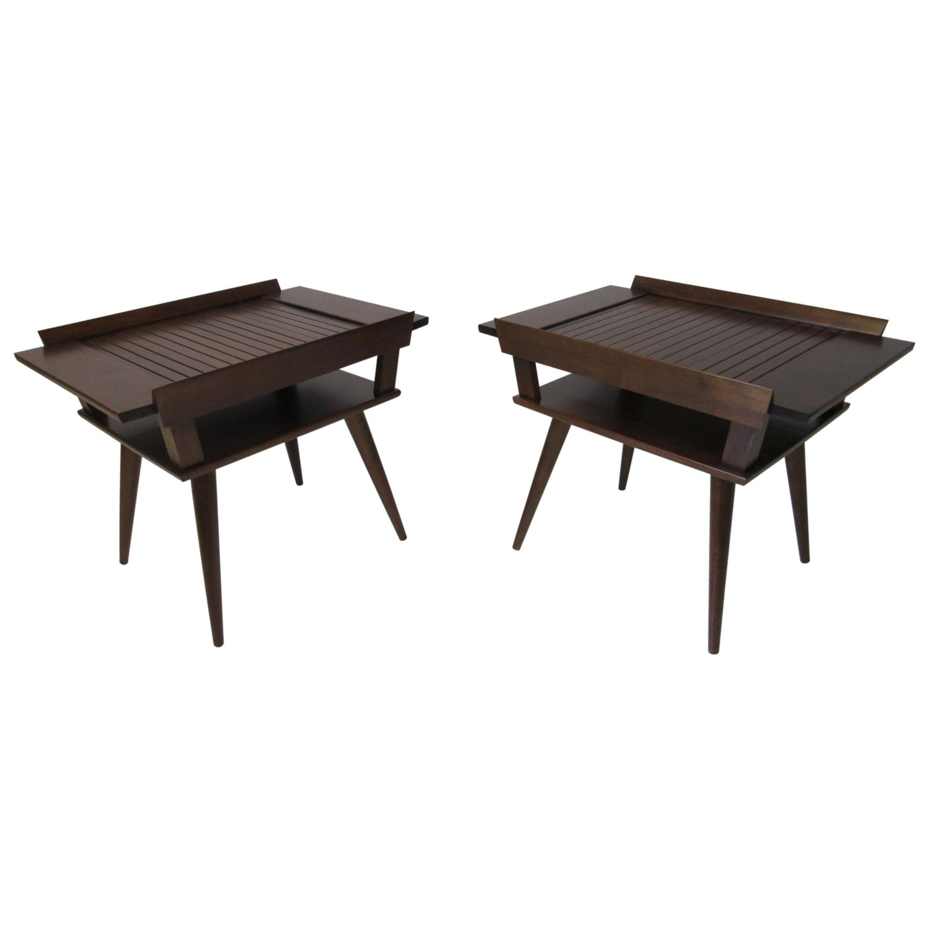 Leslie Diamond Modernmates Side Tables / Nightstands for Conant Ball