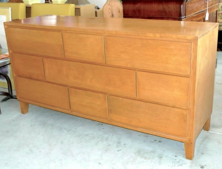 Leslie Diamond Nine Drawer Console Chest Of Drawers For
