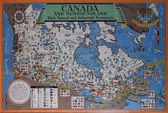 Max Gill Canada 1950 Original Vintage Propaganda Poster MacDonald Max Gill