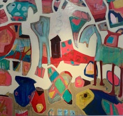 """""""Fish & Pony"""" oil on canvas 71"""" x 66"""" by Lesley"""