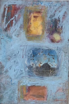 """""""Russia"""" oil & wax on board & photo 22"""" x 29"""" framed by Lesley"""