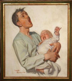 The New Father (Liberty Magazine Cover Illustration, 1928)