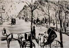 Avenue in the Tiergarten with Carriage in the Foreground