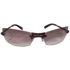 Lessthanhuman puple lens red sunglasses