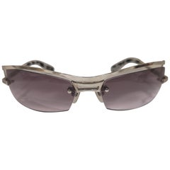 Lessthanhuman purple lens silver sunglasses