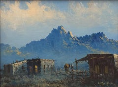 """""""Adobe Home""""  West Texas Western Painting."""