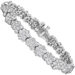 Lester Lampert Original CumuLLus Diamond Bracelet in 18 Karat White Gold