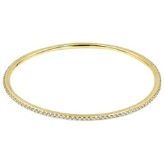 Lester Lampert Original D-Bead Diamond Bangle Bracelet in 18 Karat Yellow Gold