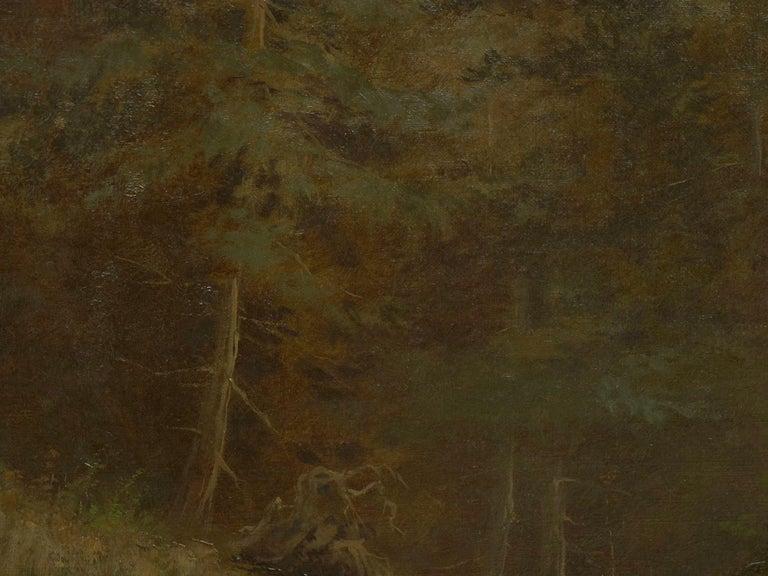 """Lester River, Duluth"" Antique Landscape Oil Painting by Feodor Von Luerzer For Sale 3"