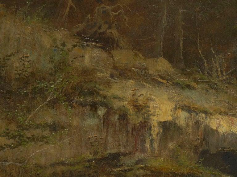 """Lester River, Duluth"" Antique Landscape Oil Painting by Feodor Von Luerzer For Sale 4"