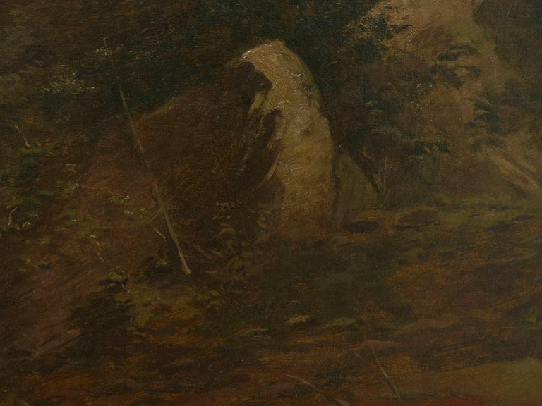 """Lester River, Duluth"" Antique Landscape Oil Painting by Feodor Von Luerzer For Sale 6"