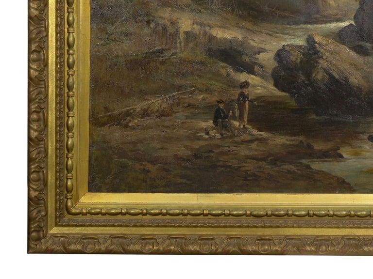 """Lester River, Duluth"" Antique Landscape Oil Painting by Feodor Von Luerzer For Sale 8"