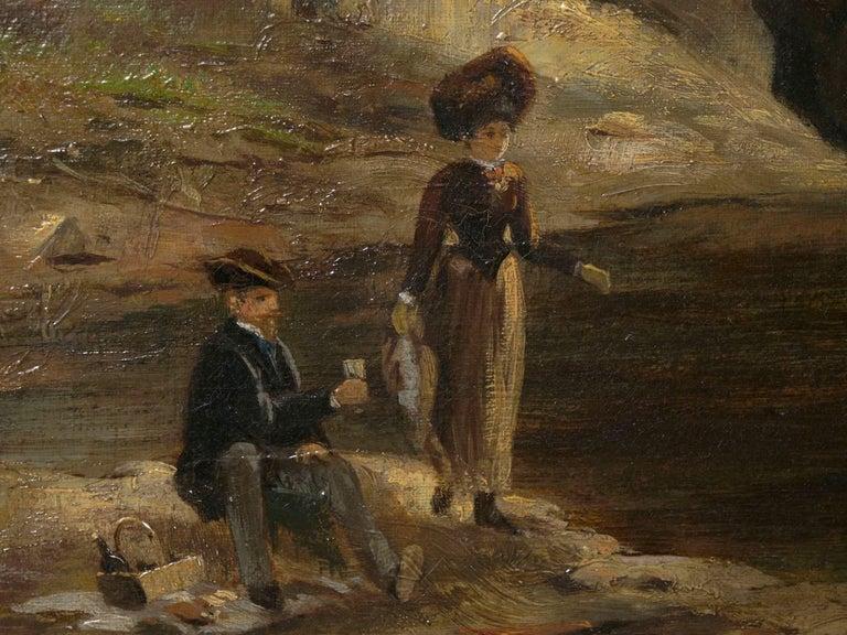 """Lester River, Duluth"" Antique Landscape Oil Painting by Feodor Von Luerzer For Sale 10"