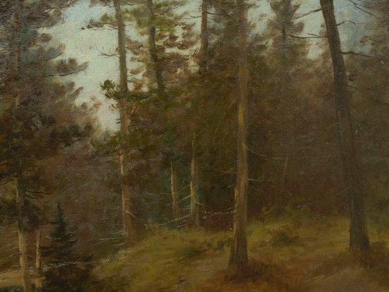"Canvas ""Lester River, Duluth"" Antique Landscape Oil Painting by Feodor Von Luerzer For Sale"