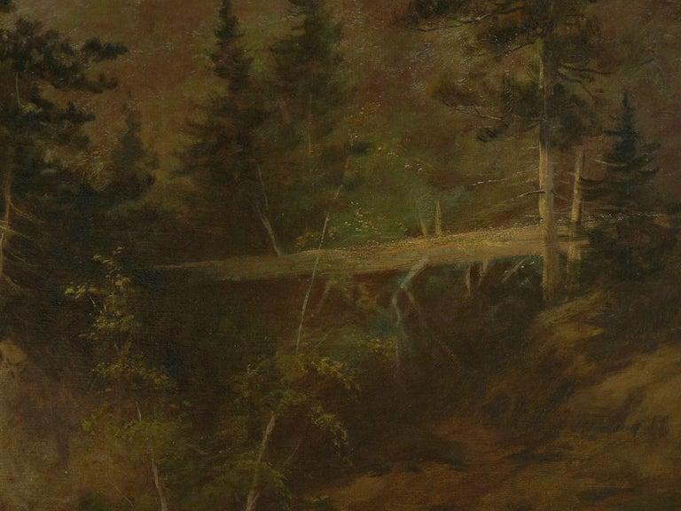 """Lester River, Duluth"" Antique Landscape Oil Painting by Feodor Von Luerzer For Sale 1"
