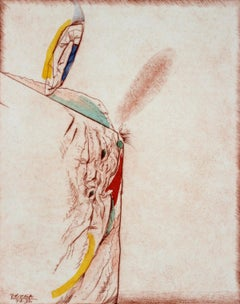 Egea, an edge - XX Century, Abstract Etching Print, Colorful