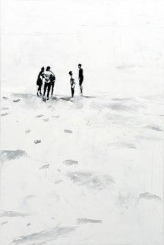 Augenzeugen - Minimalist, Oil on Canvas, 21st Century,  Figurative Painting