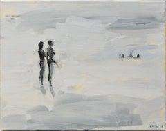 Following Year - Minimalist, Oil on Canvas, 21st Century, Figurative Painting