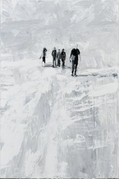 Toulon - Minimalist, Oil on Canvas, 21st Century,  Figurative Painting