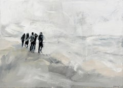 United - Minimalist, Oil on Canvas, 21st Century,  Figurative Painting