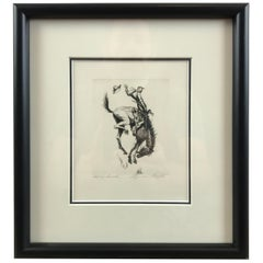 """Let 'er Buck"" by American Artist Lyman Byxbe"