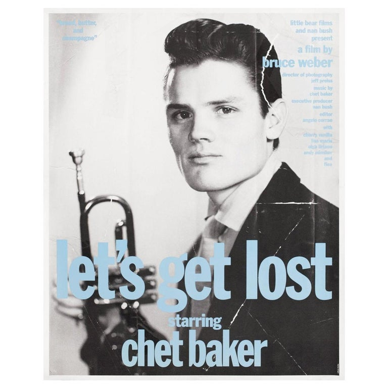 """Let's Get Lost"" 1989 U.S. Mini Film Poster For Sale"